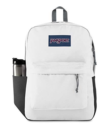 JanSport SuperBreak Backpack - School, Travel, or Work Bookbag with Water Bottle Pocket, White