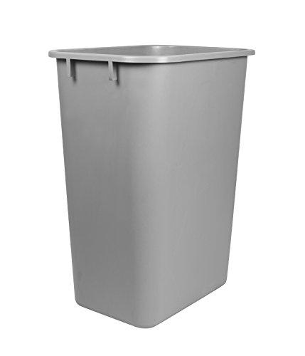 Storex Grande poubelle 39,4 x 27,9 x 52,7 cm, Noir (Stx00700u01 C) 1 count gris