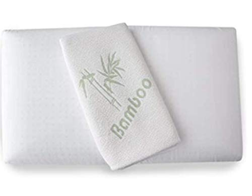 GUOSHUFANG Almohada ortopédica cervical – Almohada de espuma viscoelástica de gel (Memory Foam) con funda de bambú – Almohada de 72 x 42 cm – Altura 15 cm