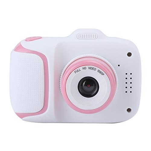 FOLOSAFENAR Uso Duradero Cámara para niños Linda cámara de Video para niños de 2.0 Pulgadas 2-3 Horas para 10 Idiomas(Pink)