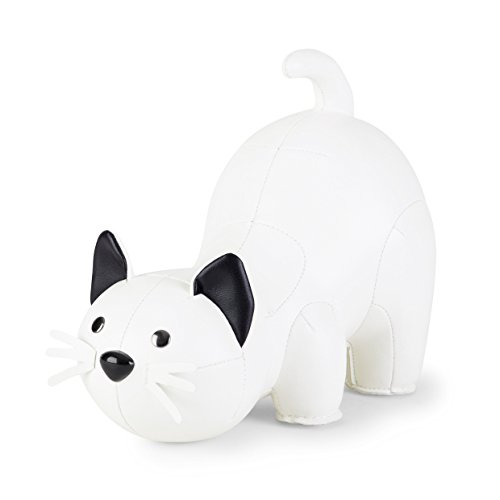 Züny - Buchstütze - Katze - weiß/schwarz - 1 kg - 25.5 x 14 x 19.5 cm