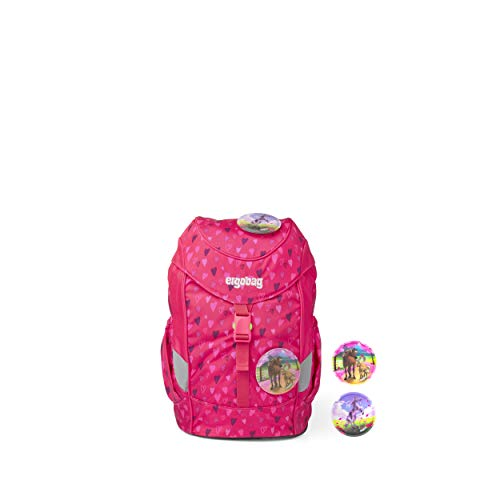 ergobag mini - ergonomischer Kinderrucksack, DIN A4, 10 Liter - HufBäreisen - Pink