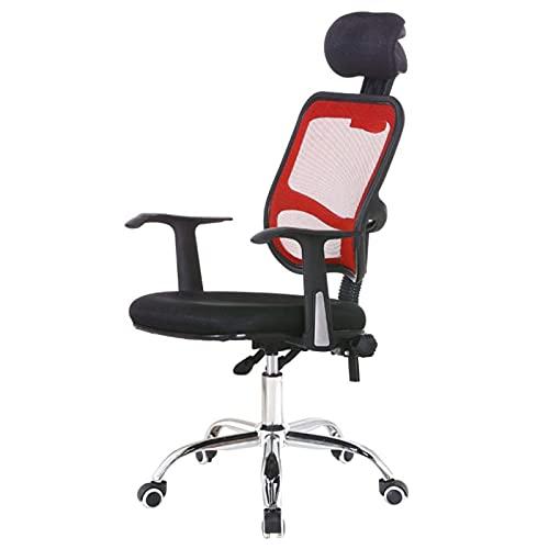 WSDSX Silla giratoria de Oficina para Muebles - Respaldo de Malla, ergonómico, Transpirable, para el hogar, para computadora, para Escritorio, Silla de salón, Elevador, Giratorio, para Aprendizaje,