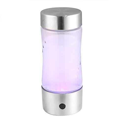 MAGT Wasserstoffreicher Wasserionisierer, Tragbare USB-Wasserflasche Gesunder Wasserstoffreicher Wasserproduzent Flaschenschalen-Ionisierer-Filter