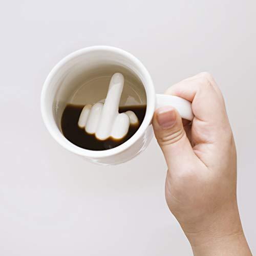 Wenn Du eine lustige Tasse kaufen willst: Stinkefingertasse