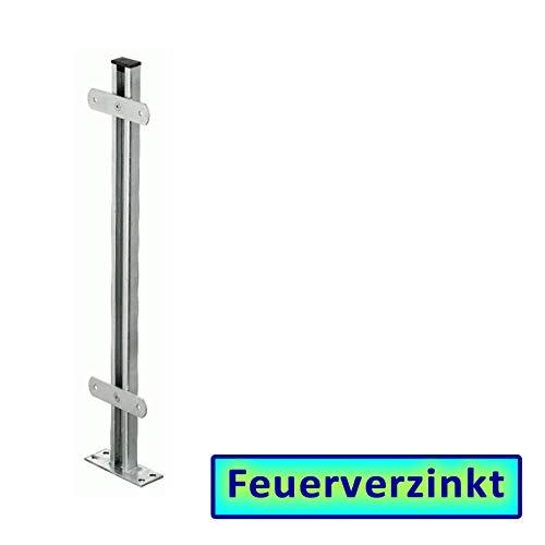 BAUER - Zaunsäule in Stahl VZ, zum Aufdübeln, L = 1000mm