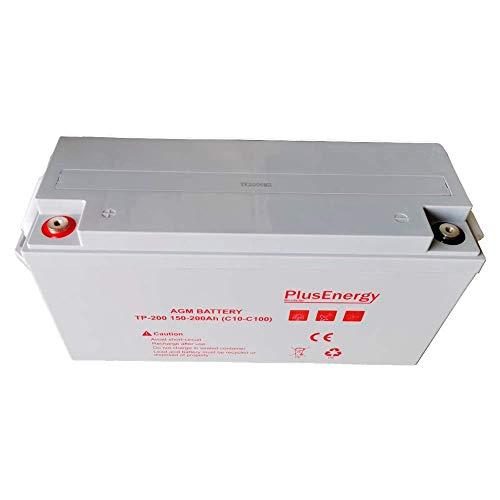 Batería solar AGM 200Ah 12 v PlusEnergy TP12-200 BATERIAS PARA DESCARGA PROFUNDO