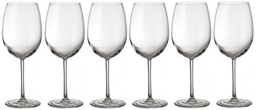 weg-ist-weg.com Jamie Oliver Waves Kristall Weißweingläser Rotweingläser, 6er Set Wein Glas, Kristallglas, Spülmaschinenfest, hochwertige Qualität