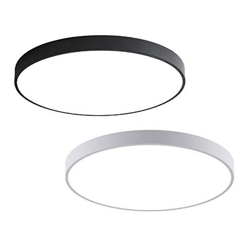 MOONSEA 18W LED Deckenleuchte Warmweiß 3500K Rund Modern Deckenlampe für Korridore Küche Diele Schlafzimmer, 30 * 30 * 5cm (Weiß)
