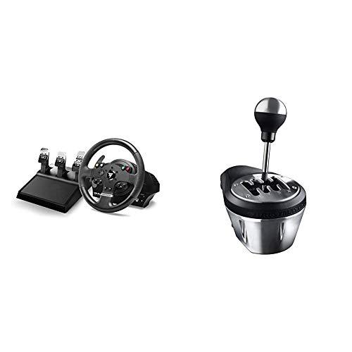 THRUSTMASTER TMX PRO - Volante e pedaliera a 3 Pedali, Compatibile con Xbox One e PC, 28 cm di Diametro & TH8A Cambio per Volante (PS4, Xbox One, PS3, PC)