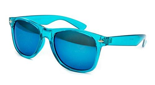 Ciffre Nerdbrille Sonnenbrille Nerd Atzen Pilotenbrille Türkis Transparent Blaue Glässer