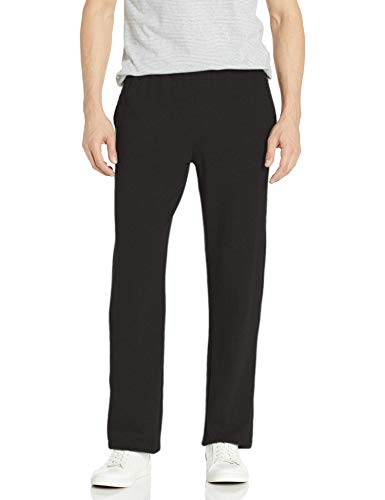 Hanes Men's X-Temp Jersey Pocket Pant, Black, XX-Large