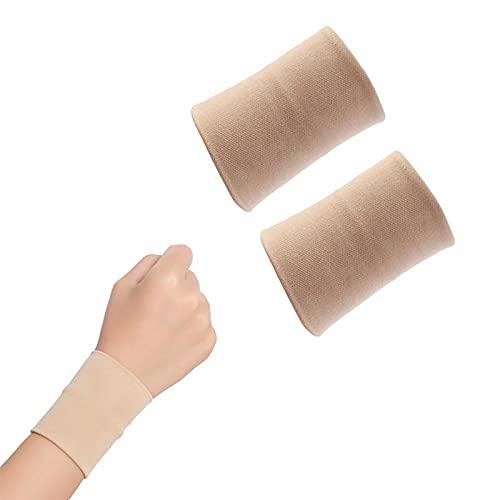XKMY Muñequera de protección deportiva unisex, 2 unidades, soporte para muñeca, muñequeras deportivas médicas, transpirable, protector de lesiones, muñequeras (tamaño: talla S)