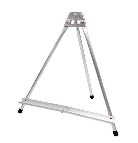 Paintersisters Caballete de mesa de aluminio plateado, 1 pieza, caballete de exhibición, soporte de cuadros para bastidor, lienzo, escuela y KIGA