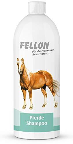 Fellon Pferde Shampoo | 1 Liter Nachfüllflasche | Shampoo für Pferde | Spray & wash | Ph-neutral | Pflegend & Rückfettend | milde Waschsubstanzen | Gut für Ihr Tier und die Umwelt