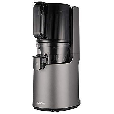 ヒューロムスロージューサー H-200(ダークグレー)   スロージューサー ジューサー ミキサー コールドプレスジュース 自動搾汁