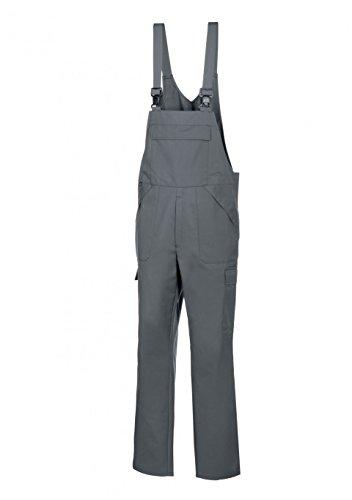 BP 1681-558-53-XLl Unisex Arbeits-Latzhose, mit elastischer, verstellbarer Taille, 245,00 g/m² Stoffmischung, dunkelgrau ,XLl