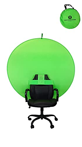 """Background Buddy, Collapsible & Portable Webcam Backdrop Green Screen. 57"""" Great for Live Streaming on Twitch or Video Conferencing with Zoom."""