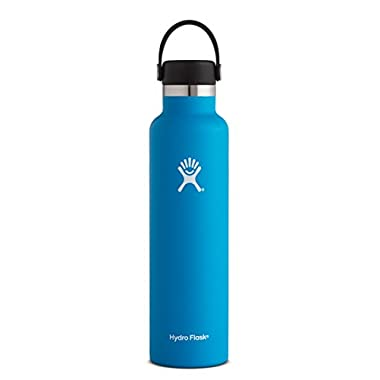 Hydro Flask 24 oz Double Wall Vacuum Insulated Stainless Steel Leak Proof Sports Water Bottle, Standard Mouth with BPA Free Flex Cap, Pacific