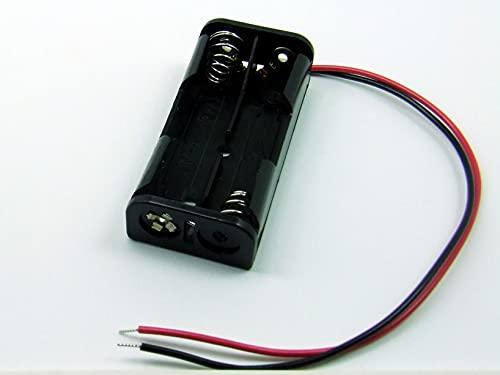 POPESQ® - Portapilas Caja para Pilas Soporte Pilas/Battery Holder 2 x AAA (R3) Battery Socket #A1792