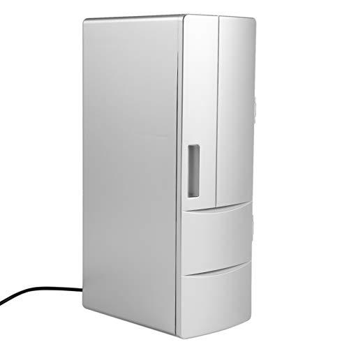 Deesen Refrigerator Nevera USB Latas De Congelador Calentador Enfriador De Ccerveza Bebida Refrigerador De Viaje Caja De Hielo Uso De Oficina Coche Portátil