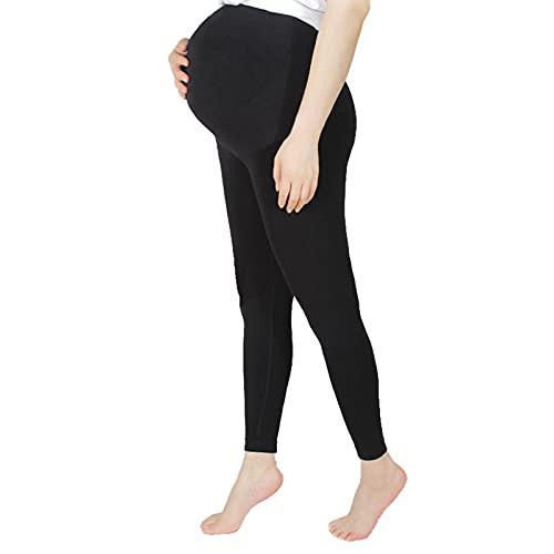 Beudylihy Zwangerschapsleggings voor zwangere vrouwen Maternity High Waist naadloze leggings comfortabele elastische workout-yogabroek zwangerschapsbroek buikondersteuning zwangerschapsleggings
