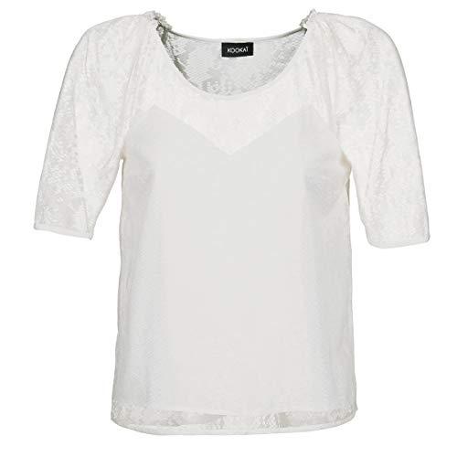Kookaï Basaloui Tops/Blusen Damen Weiss - DE 36 (EU 38) - Tops/Blusen Shirt