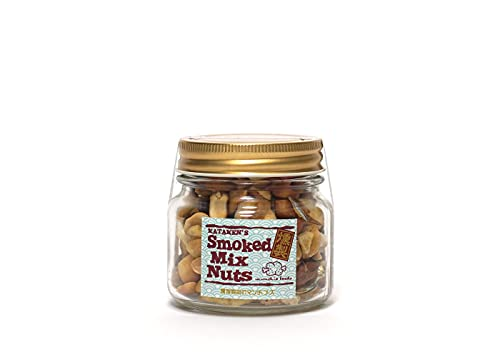 munchie foods(マンチーフーズ) MFSNB スモークミックスナッツ ボトル Smoked Mix Nuts in Bottle レギュラーボトル(145g) ゴールド