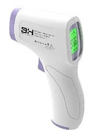 Interbox HZK-801 Portable Non-Touch Thermometer, 32 Measurements in 1 Group, LCD, Voice and Quick Measurement, White