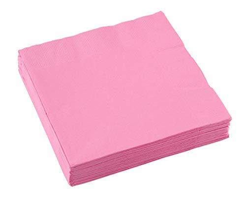 amscan 10022296 - Tovaglioli a 2 veli, 33 cm, 20 pezzi, colore: Rosa chiaro