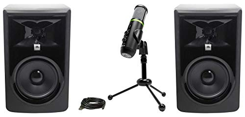 Buy Bargain (2) JBL 306P MkII 6″ Powered Studio Monitor Speakers+Mackie USB Recording Mic