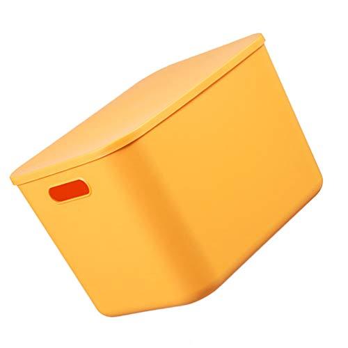 BESTonZON Contenedores de Almacenamiento Grandes Apilables Ropa Juguetes Libros Organizador Contenedor de Artículos Diversos Contenedores Portátiles Amarillo