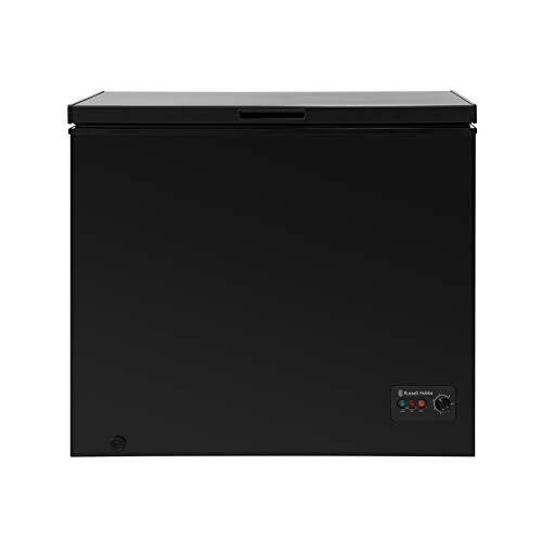 Russell Hobbs RHCF198B Black 198 Litre Freestanding Chest Freezer by Russell Hobbs, Energy Rating A+ - Free 5 Year Guarantee*