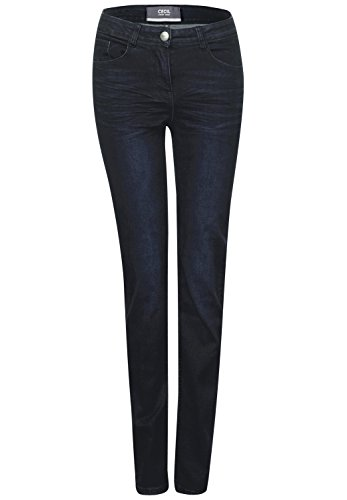 CECIL Damen Jeans 371172 Toronto Straight, Blau (Dark Blue Wash 10315), W26/L32