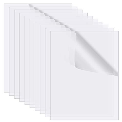 FRIUSATE 10 Stück transparente Acrylplatten 6 x 4 Zoll klare Acrylplatten für Bilderrahmen Glas Ersatz Kalligraphie Malerei, 0,08 Zoll dick