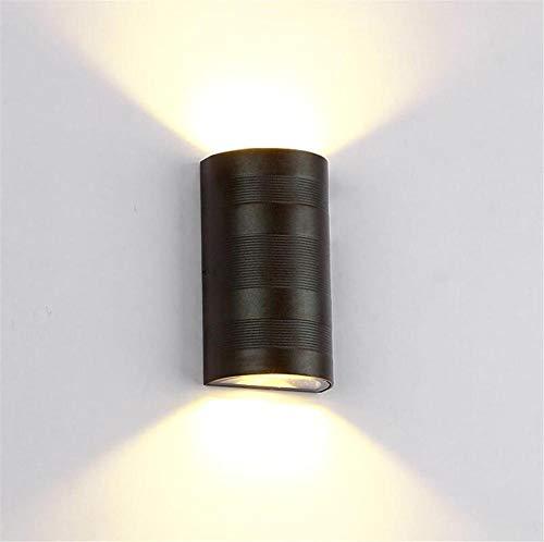 YLCJ wandlamp moderne aluminium 6W LED wandlamp op Gi \u0026 ugrave; wandlamp wandlamp Corridor House nachtkastlampje achtergrondverlichting buitenverlichting binnenverlichting (zwart)