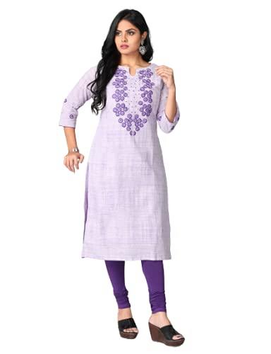 Urban Purple Designer Straight Cotton Kurti with Cotton Lining UP003