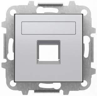 Niessen Sky - deksel 1 aansluiting met rolluiken zilver