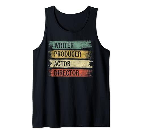 Escritor Productor Actor Director Regalos Cineasta Cine Camiseta sin Mangas