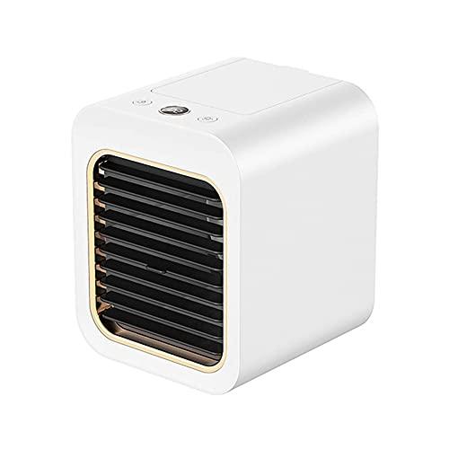 Condizionatore d'Aria Portatile, Ventilatore 3 velocità,USB Umidificatore per Casa E Ufficio,Bianca