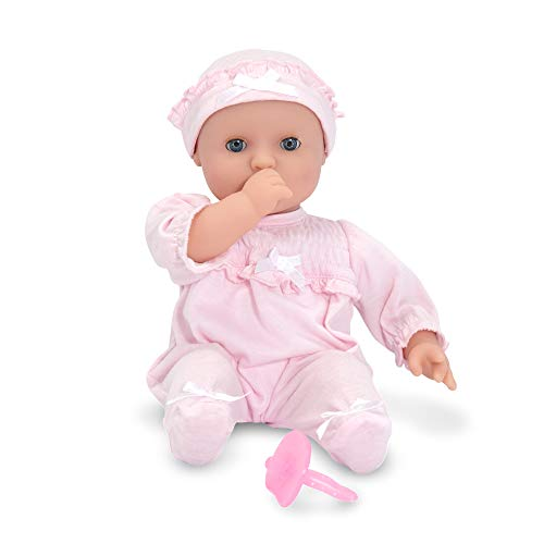 Melissa & Doug Mine to Love Jenna 12-Inch Soft Body Baby Doll, Romper and Hat Included,...