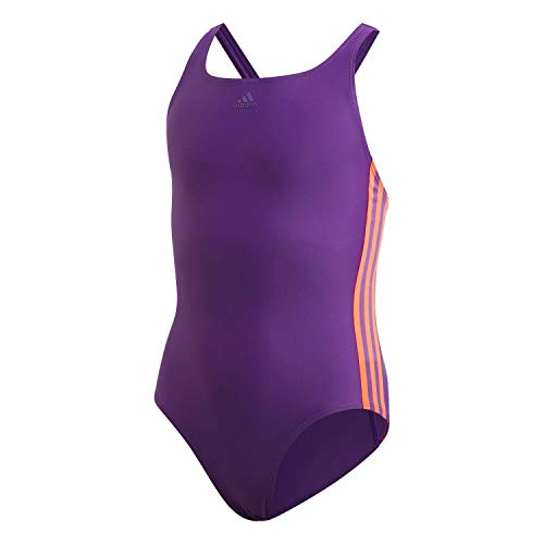 adidas Mädchen FIT Suit 3S Y Swimsuit, Glory Purple/app solar red, 910Y