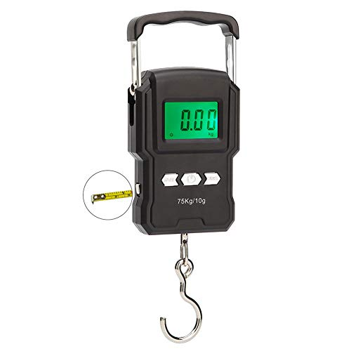 HANWELL 75kg/165lb Portable Digital Luggage Scale with Tape Measure,...