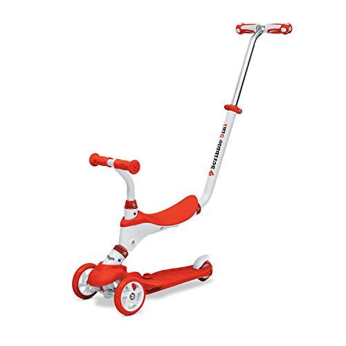 Mondo On & Go - Scribble Scooter para niños 5 en 1 - Scooter con Asiento, Pedales de Goma Suave y Scooter Grande de 3 Ruedas para niños - De 1 a 5 años | MAX 50 Kg - Color Rojo - 28573, Variabile