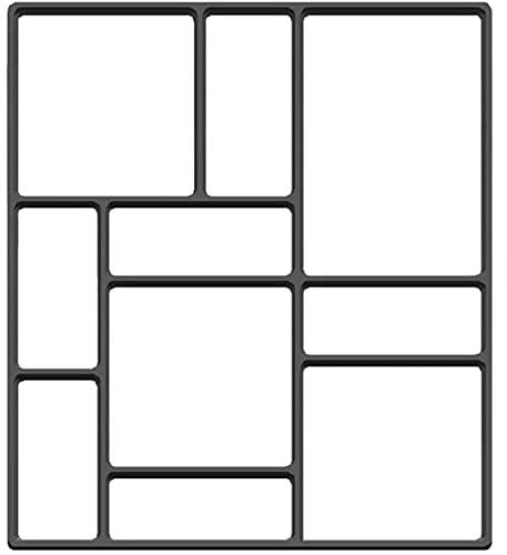 HGDH Walk Mold Reutilizable DIY Manualmente pavimentación de Cemento Ladrillo de Piedra Moldes de hormigón (Color : 45×40cm|Black)