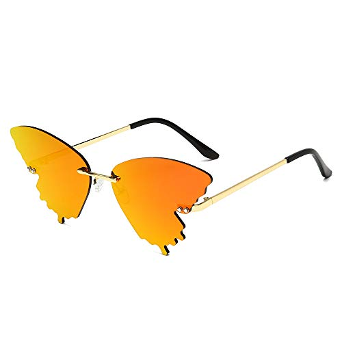 BVFRA Gafas De Sol,Moda Retro Polarizado Estético Gradiente Naranja Mariposa Lente Diseñador...