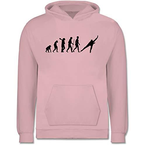 Evolution Kind - Eisschnelllauf Evolution - 116 (5/6 Jahre) - Hellrosa - Eisschnelllauf Schlittschuhe - JH001K JH001J Just Hoods Kids Hoodie - Kinder Hoodie