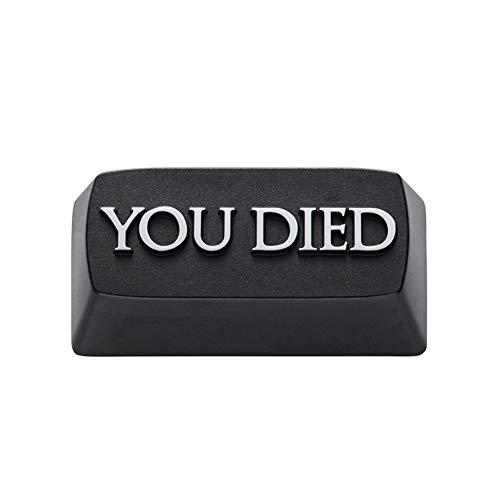 Man-hj Teclas del Teclado Usted murió Juego Encima Artisan tecla Clave anodizado de Aluminio, Compatible Interruptor MX Retroceso Colorway Negro (Color : ZOMO You Died BS x1)