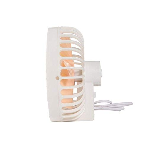 Ventilador, USB portátil Tabla Ventilador portátil turística Personal Mini Ventilador zcaqtajro (Color : White)