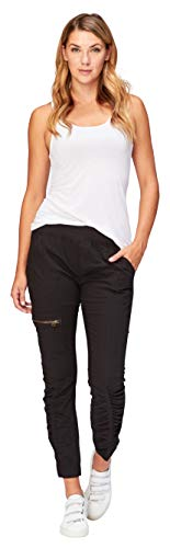 XCVI Wearables Women's Malanda Pants, Small, Black - Lightweight Ankle Pants
